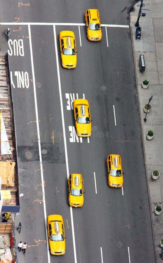 Táxis amarelos em New York foto de stock