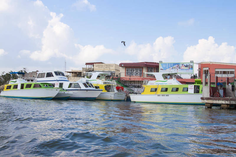 Táxis da água de Belize fotos de stock