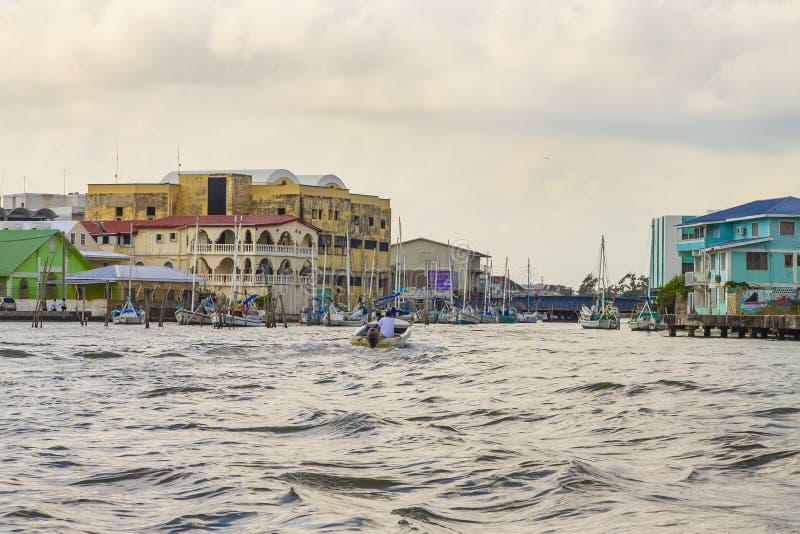 Táxis da água de Belize foto de stock