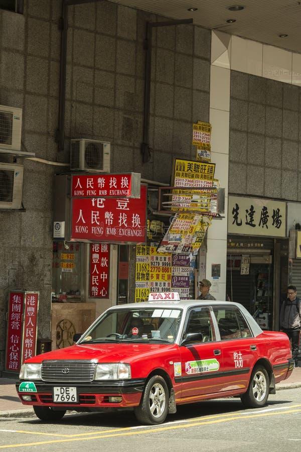 Táxis de Hong Kong fotografia de stock royalty free