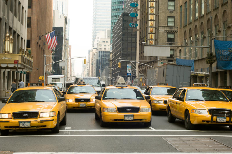 Táxis de New York imagem de stock royalty free