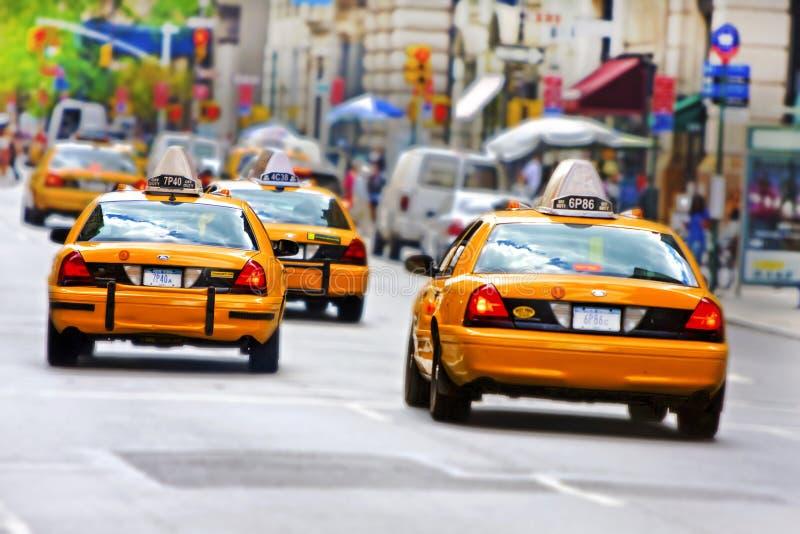 Táxis em Manhattan fotografia de stock