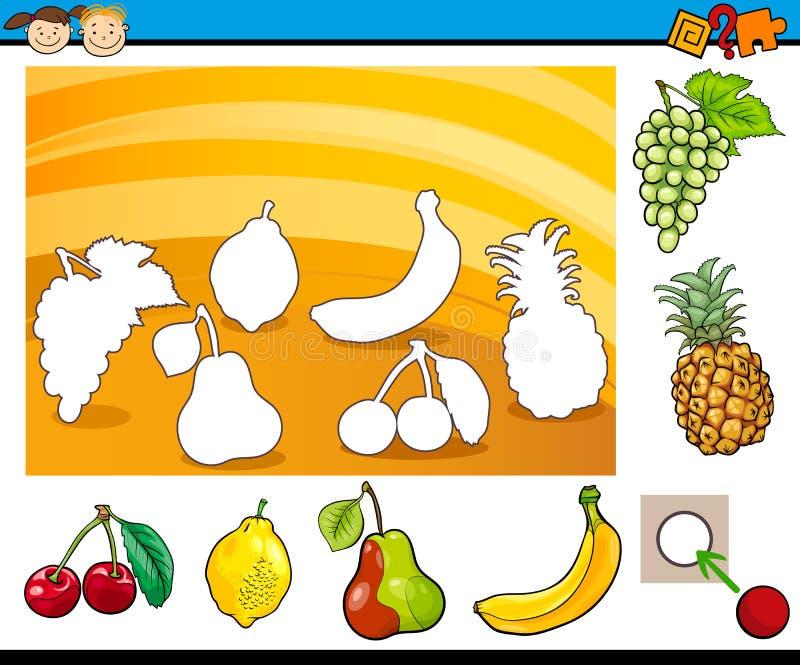Tâche éducative de bande dessinée pour des enfants illustration stock