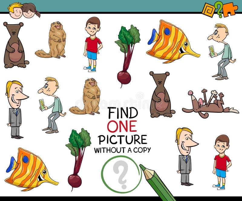 Tâche éducative pour des enfants illustration de vecteur