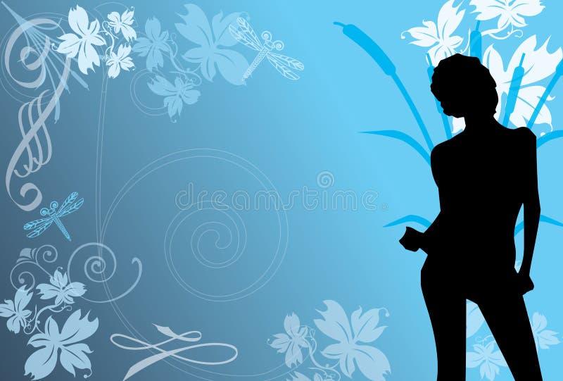 Tânger azul ilustração do vetor