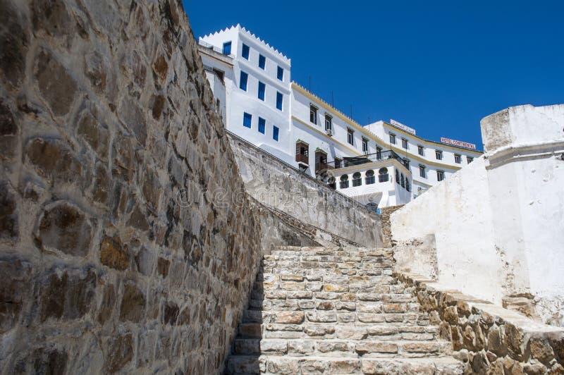 Tânger, Tânger, Tanger, Marrocos, África, Norte de África, costa de Maghreb, estreito de Gibraltar, mar Mediterrâneo, Oceano Atlâ foto de stock