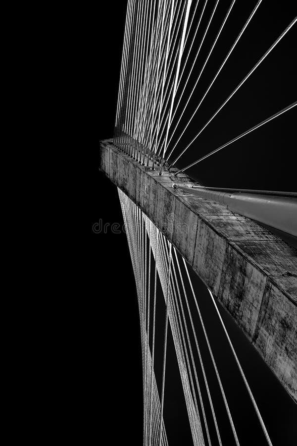 Térenez most w Brittany Francja fotografia stock