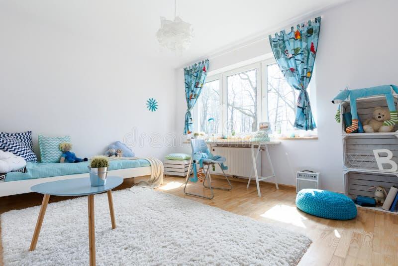 Tão confortável quanto uma sala de criança pode ser foto de stock