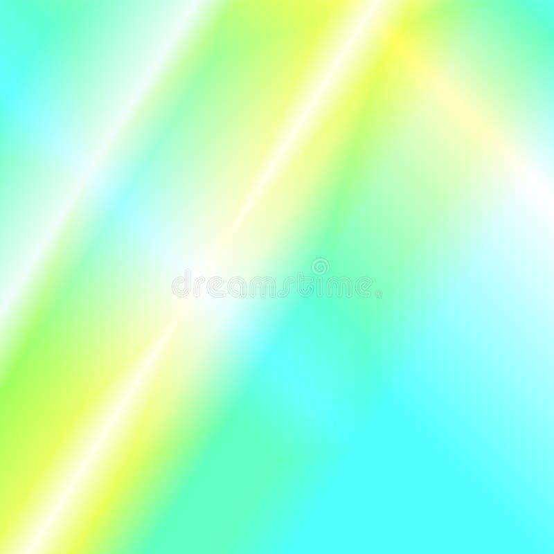 Tęcz jarzeniowi odbicia światło Holograficzna dyspersja i odbicie w szkle royalty ilustracja