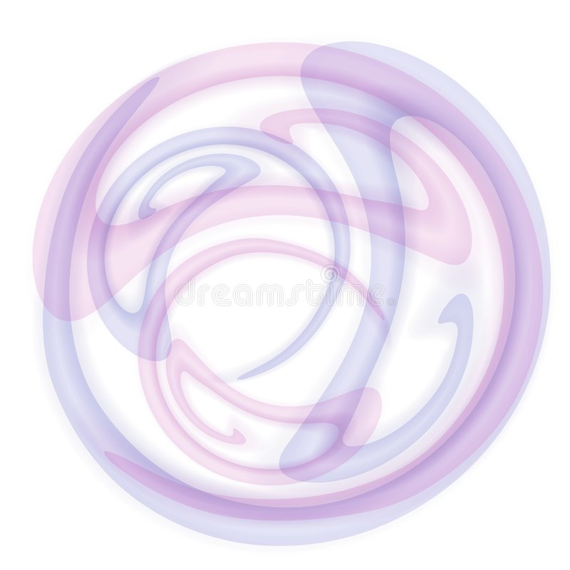 täckande cirkelrökswirls stock illustrationer