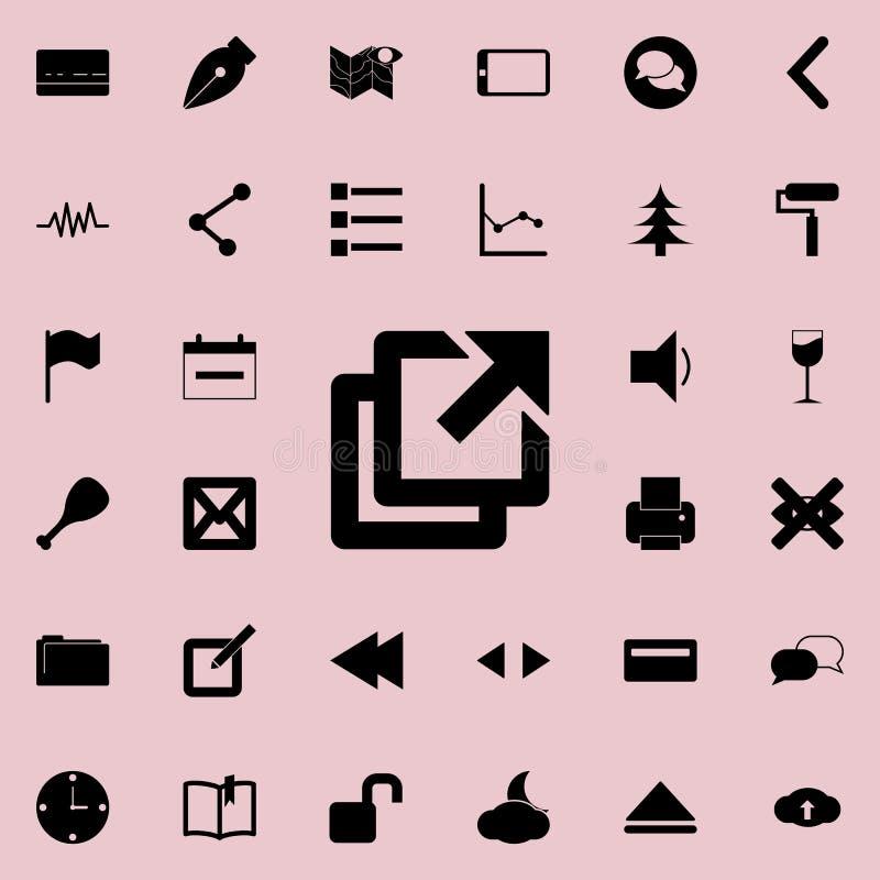 täcker symbolen Detaljerad uppsättning av minimalistic symboler Högvärdig grafisk design En av samlingssymbolerna för websites, r royaltyfri illustrationer