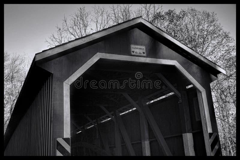 Täckt bro i Lancaster County, Pennsylvania royaltyfri foto