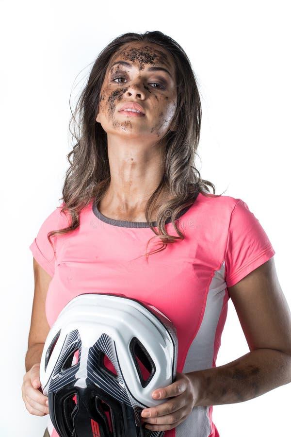 Täckt kvinna fotografering för bildbyråer