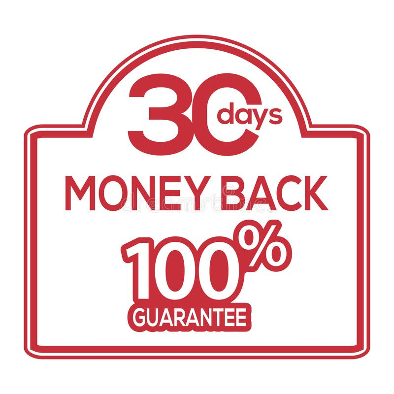 30-tägiger Geldrückseitengarantie-Aufklebervorratvektor stock abbildung