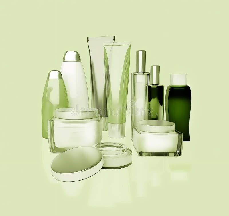 Täglich, Schönheitspflegekosmetik Gesichtscreme, Augencreme, Serum und Li lizenzfreie stockfotografie