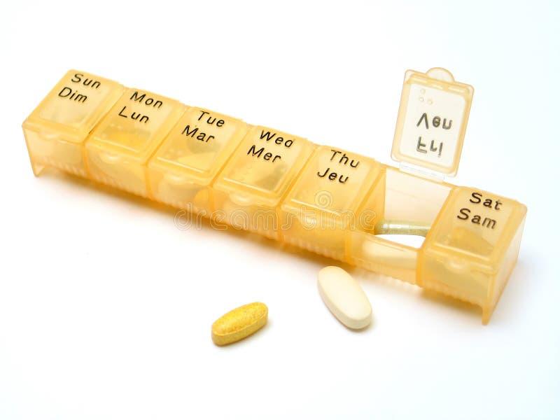 Tägliche Pillen 2 lizenzfreie stockbilder