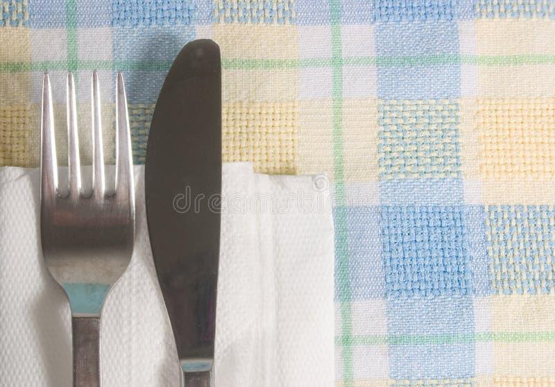 Tägliches Messer und Gabel lizenzfreie stockfotografie