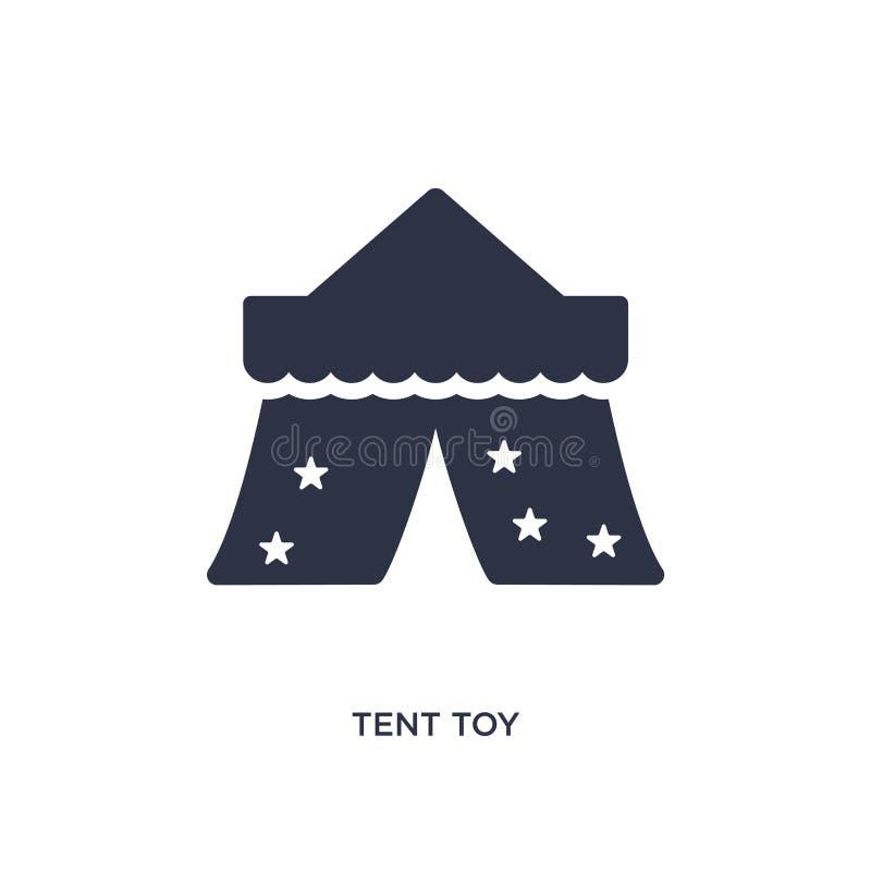 tältleksaksymbol på vit bakgrund Enkel beståndsdelillustration från leksakerbegrepp vektor illustrationer