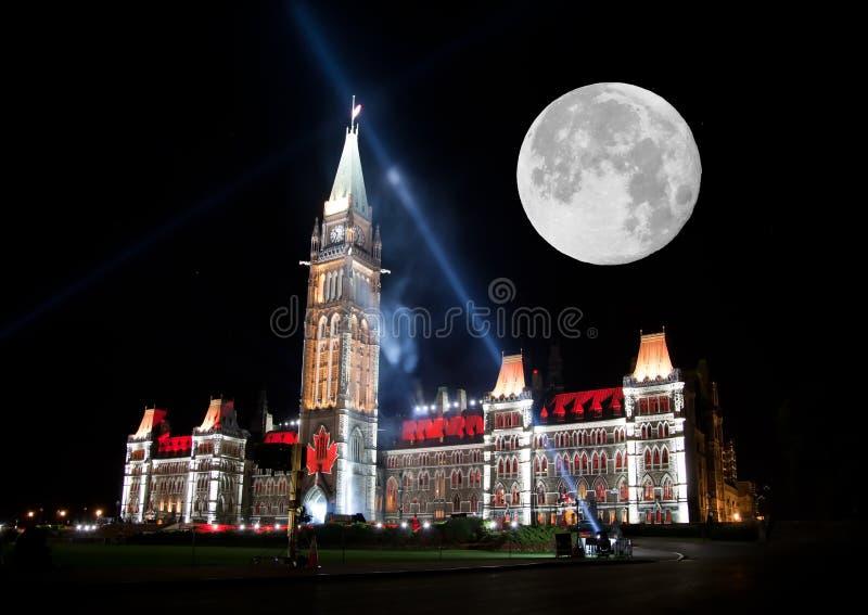 Tänd showen på det kanadensiska huset av parlamentet royaltyfri foto