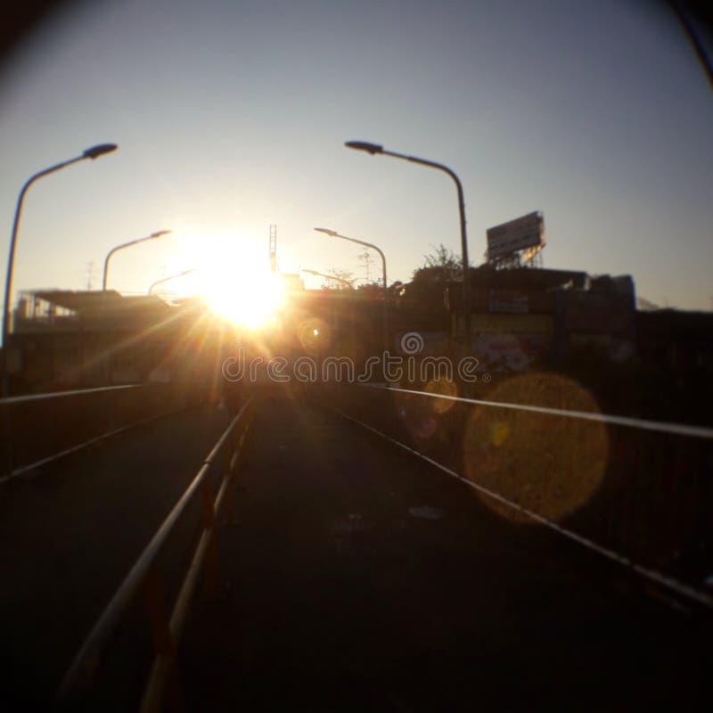 Tänd solen arkivfoto