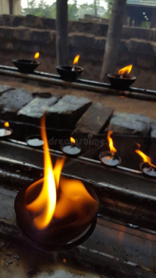 Tänd upp i Anuradhapura 2/Sri Lanka fotografering för bildbyråer