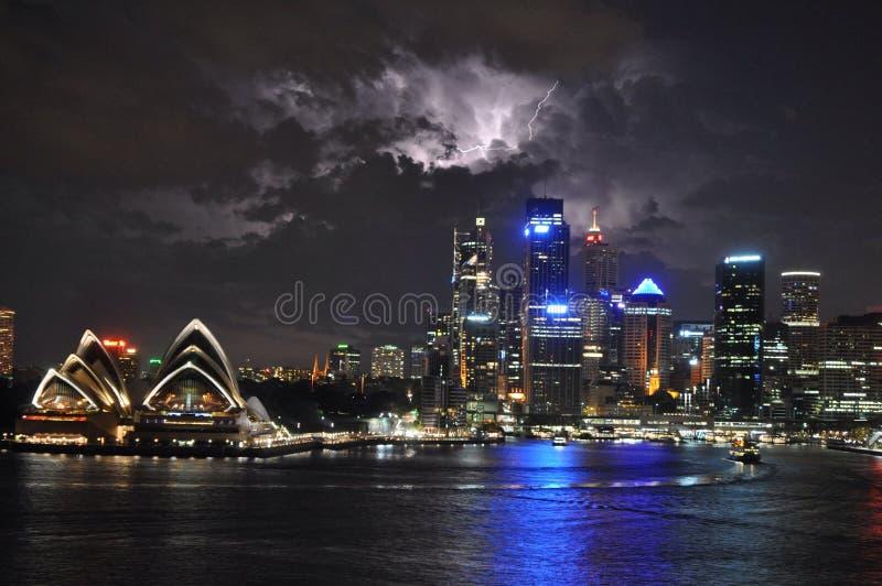 Tända över Sydney royaltyfri foto