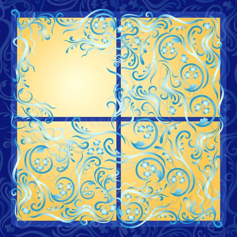 Tända det fryste fönstret vektor illustrationer