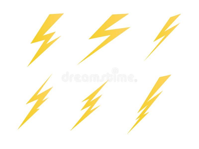 Tända för symbolsvektor för elektrisk laddning illustration för symbol vektor illustrationer