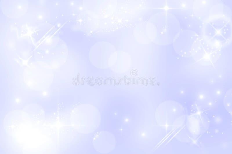 Tända - starry bokehbakgrund för blått royaltyfri illustrationer