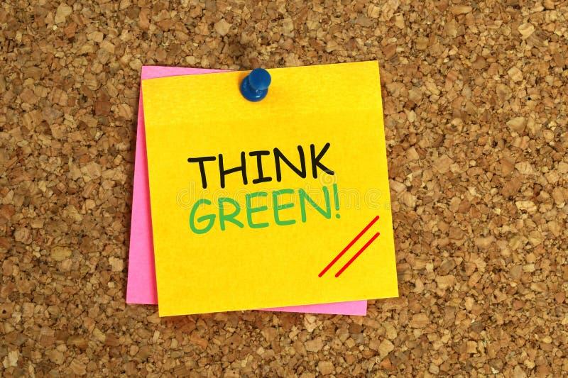 Tänk grönt klibbigt royaltyfria bilder