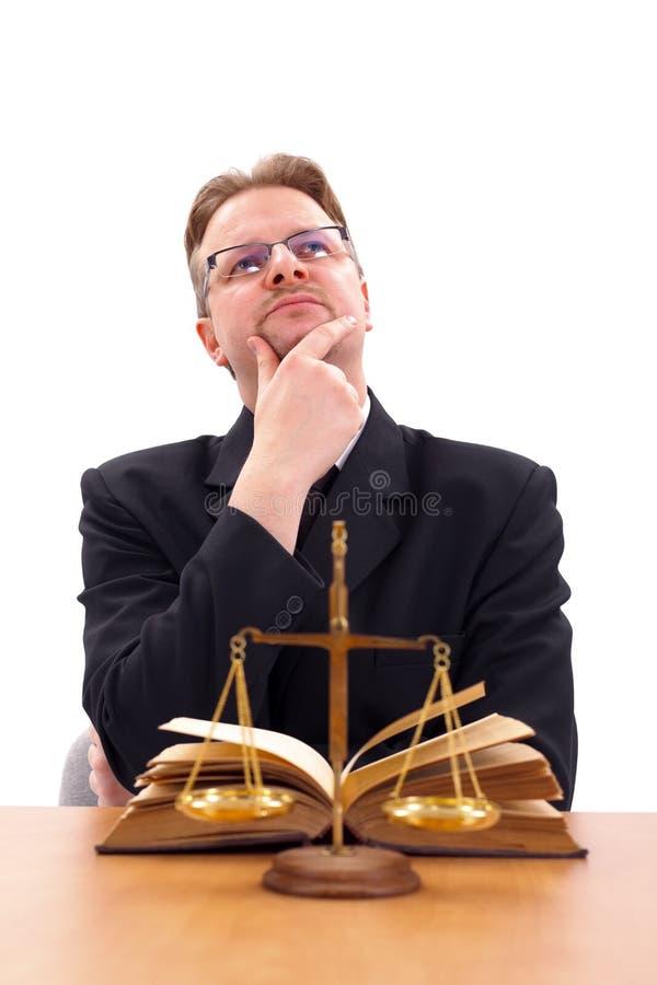 tänka för advokat royaltyfria foton
