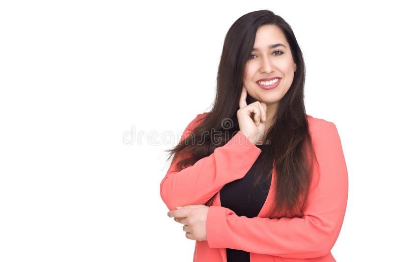 tänka för affärskvinna royaltyfria foton