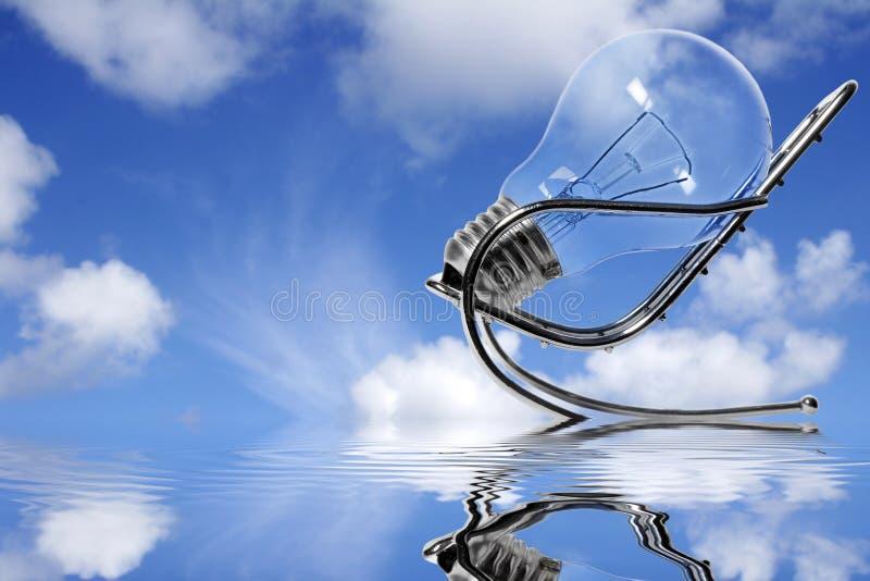 tänka för blå sky royaltyfri bild