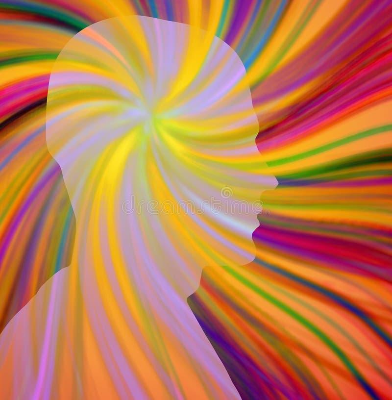 Tänkande process för konst vektor illustrationer