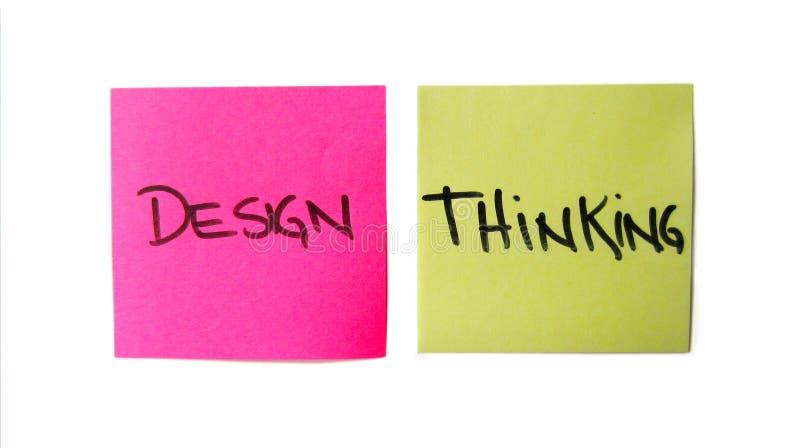 Tänkande stolpe för design dess van vid innovation arkivfoto