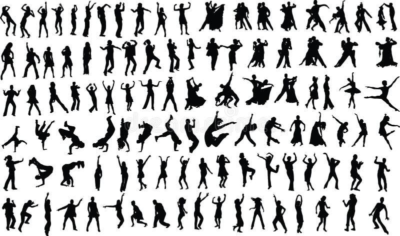 Tänzer vektor abbildung