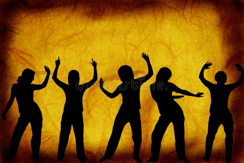 Tänzer auf einem grunge Hintergrund vektor abbildung