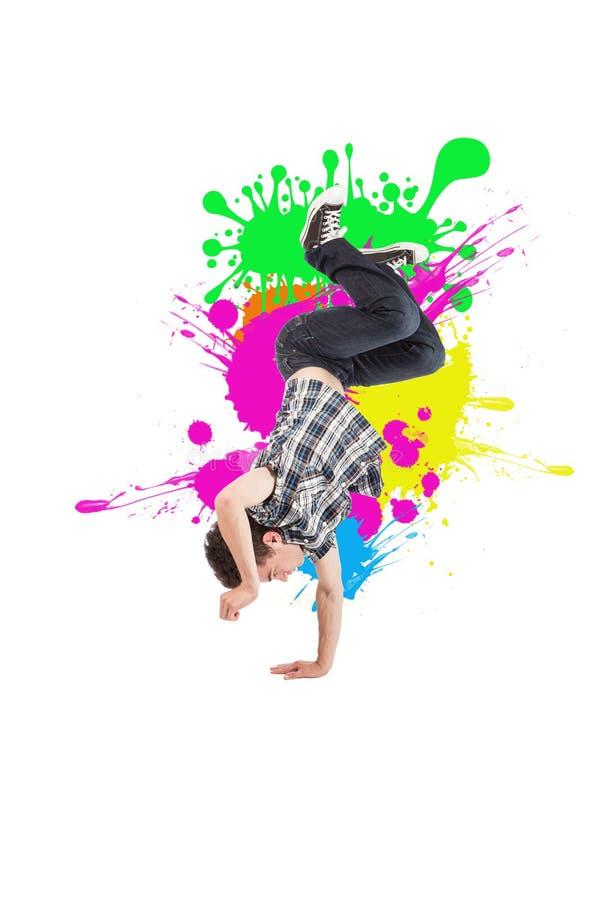Download Tänzer auf Weiß stockbild. Bild von bruch, sprung, exemplar - 26366551