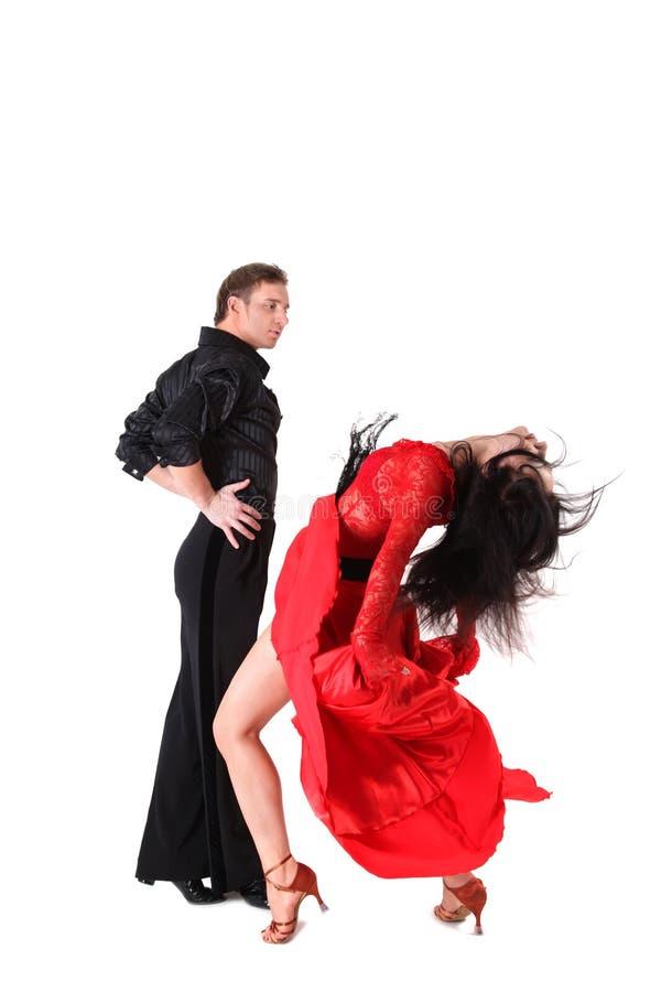 Tänzer getrennt auf Weiß lizenzfreie stockfotos