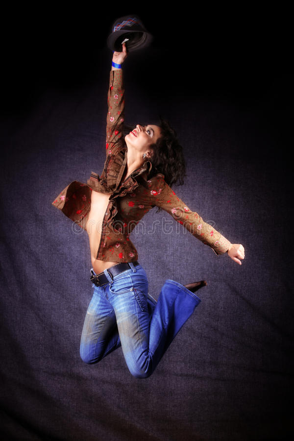 Tänzer im Sprung lizenzfreies stockfoto