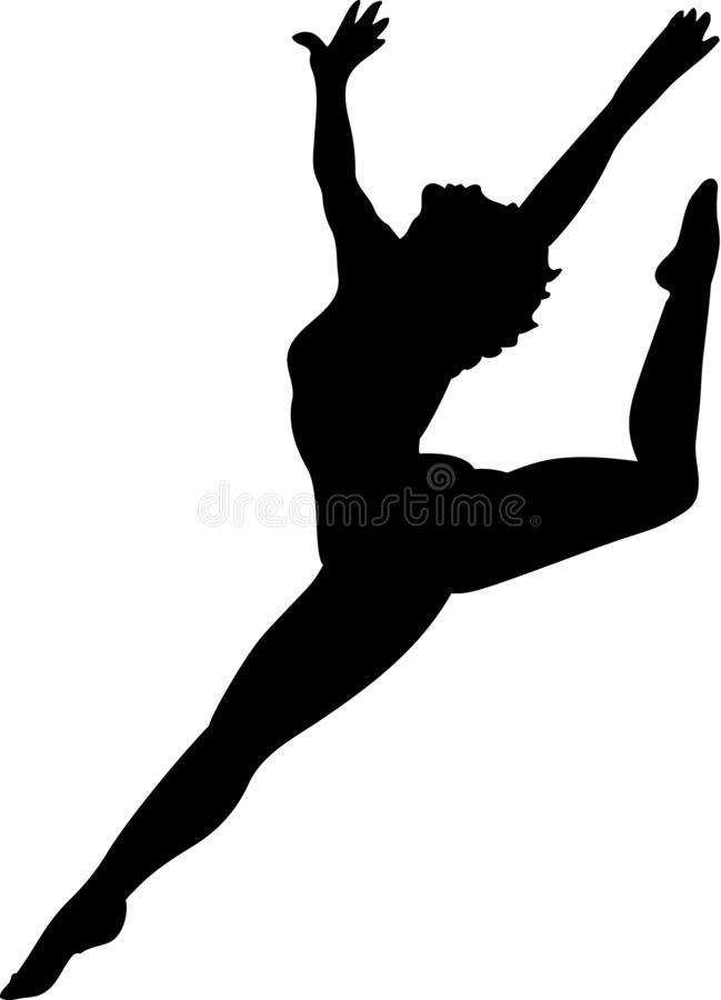 Tänzer Silhouette Vector Illustration stock abbildung