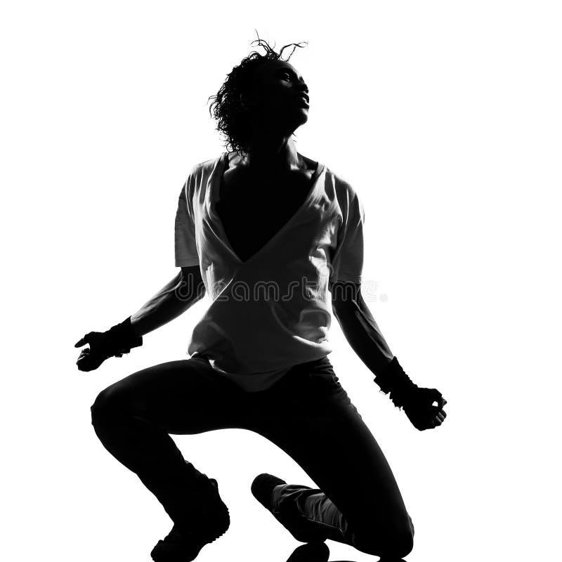 Tänzer-Tanzenmann der Hip-Hop-riesigen Angst stockfoto
