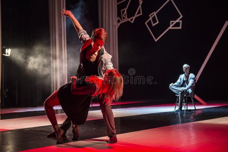 Tänzer von Caro Dance Theatre führen am Stadium durch stockfotografie