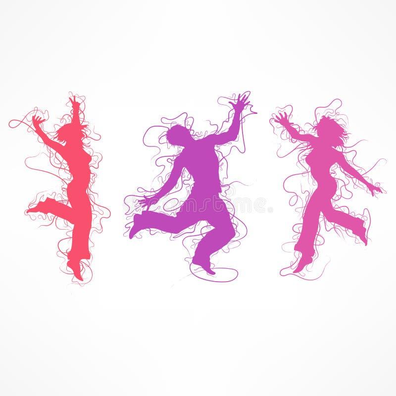 Tänzerfrauenfigur auf Weiß Auch im corel abgehobenen Betrag vektor abbildung