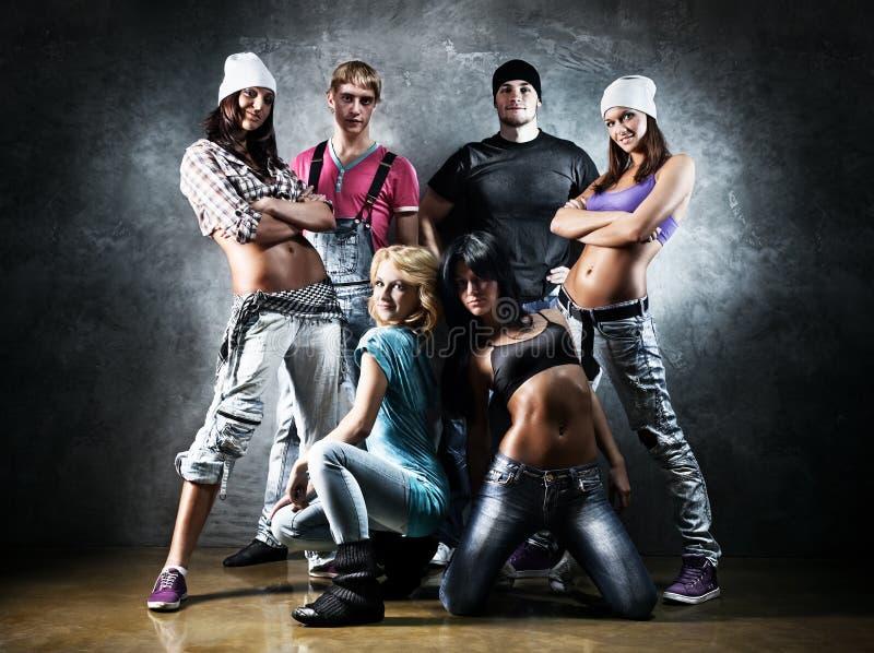 Tänzerteam lizenzfreie stockfotografie