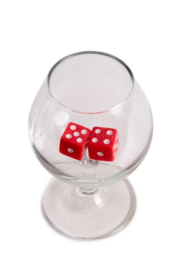 Tärning för kasino en arkivbild