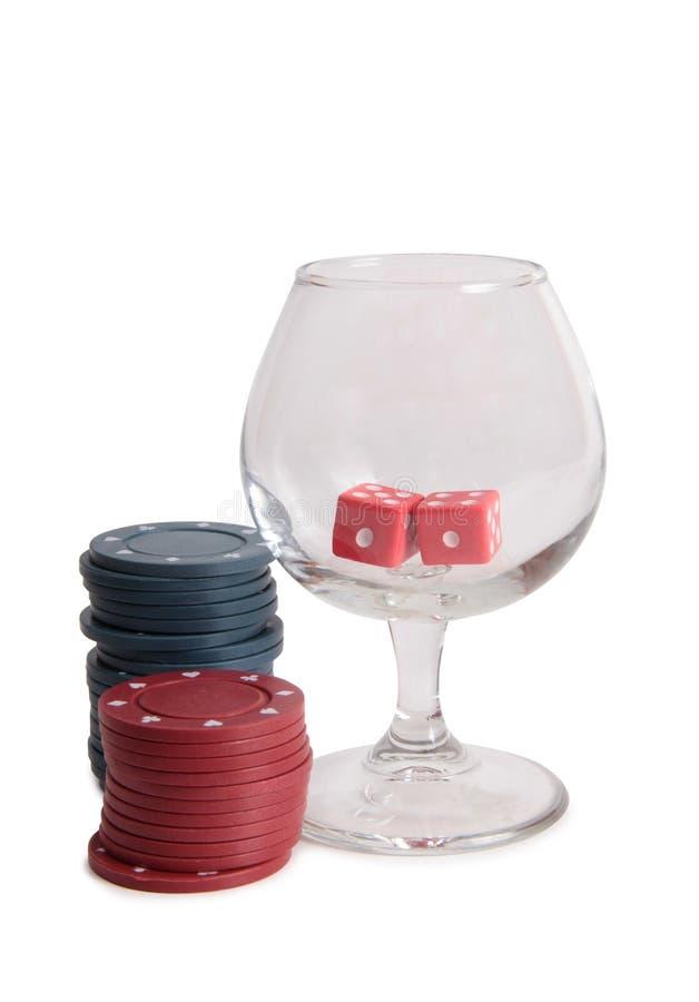 Tärning för kasino tre royaltyfri bild