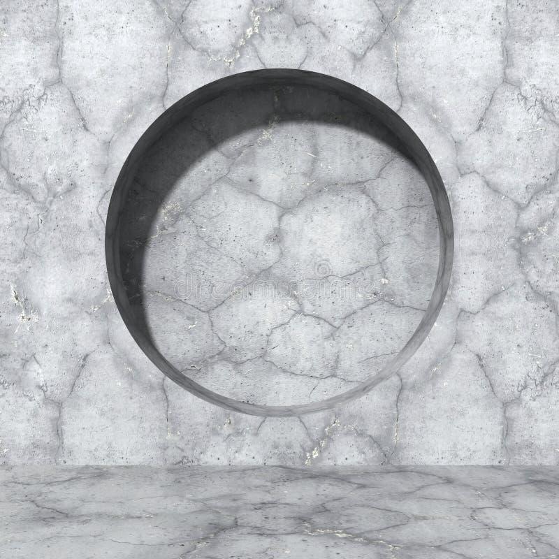 Download Tät Betong Som Skjutas Upp Väggen Rund Designhålbeståndsdel Stads- Arkitekturbac Stock Illustrationer - Illustration av digitalt, grått: 78731383