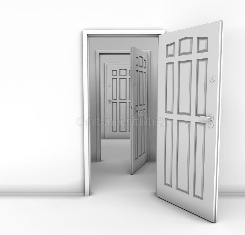 tät dörr vektor illustrationer