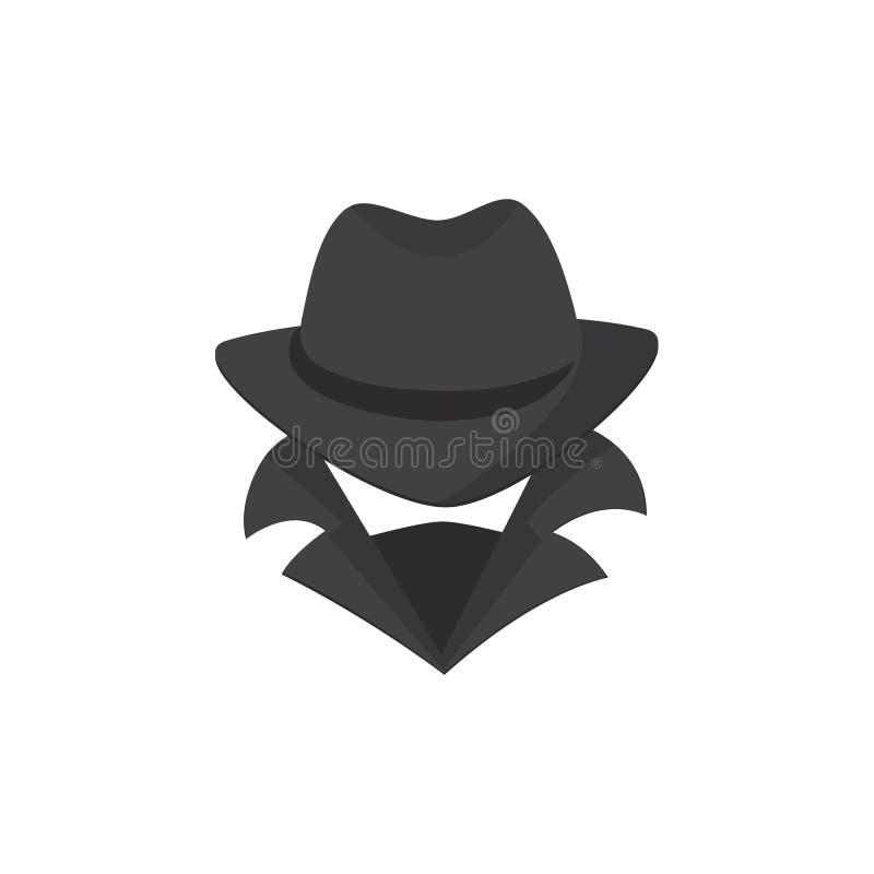 tät datorhacker för bakgrund upp white En okänd man i en hatt och en maskering vektor illustrationer